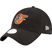 New Era Women's Baltimore Orioles 9Twenty Team Glisten Black Adjustable Hat