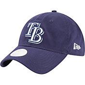 New Era Women's Tampa Bay Rays 9Twenty Team Glisten Navy Adjustable Hat