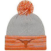 New Era Women's Texas Longhorns Grey/Burnt Orange Snow Crown Beanie