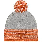 New Era Women's Texas Longhorns Grey/Burnt Orange Snow Crown Beanie