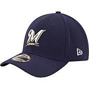 New Era Youth Milwaukee Brewers 39Thirty Classic Navy Flex Hat