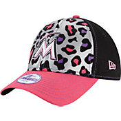 New Era Youth Girls' Miami Marlins 9Forty Cheetah Chic Adjustable Hat