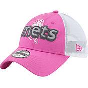 New Era Youth Girls' New York Mets 9Twenty Pop Stitcher Pink/White Adjustable Hat