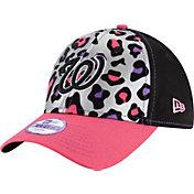 New Era Youth Girls' Washington Nationals 9Forty Cheetah Chic Adjustable Hat
