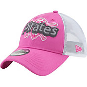New Era Youth Girls' Pittsburgh Pirates 9Twenty Pop Stitcher Pink/White Adjustable Hat