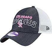 New Era Youth Girls' Colorado Rockies 9Twenty Denim Stitcher Adjustable Hat