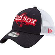 New Era Youth Boston Red Sox 9Twenty Pop Stitcher Navy/White Adjustable Hat