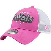New Era Youth Girls' Kansas City Royals 9Twenty Pop Stitcher Pink/White Adjustable Hat