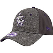 New Era Men's LSU Tigers Grey The League Shadow 9Forty Adjustable Hat