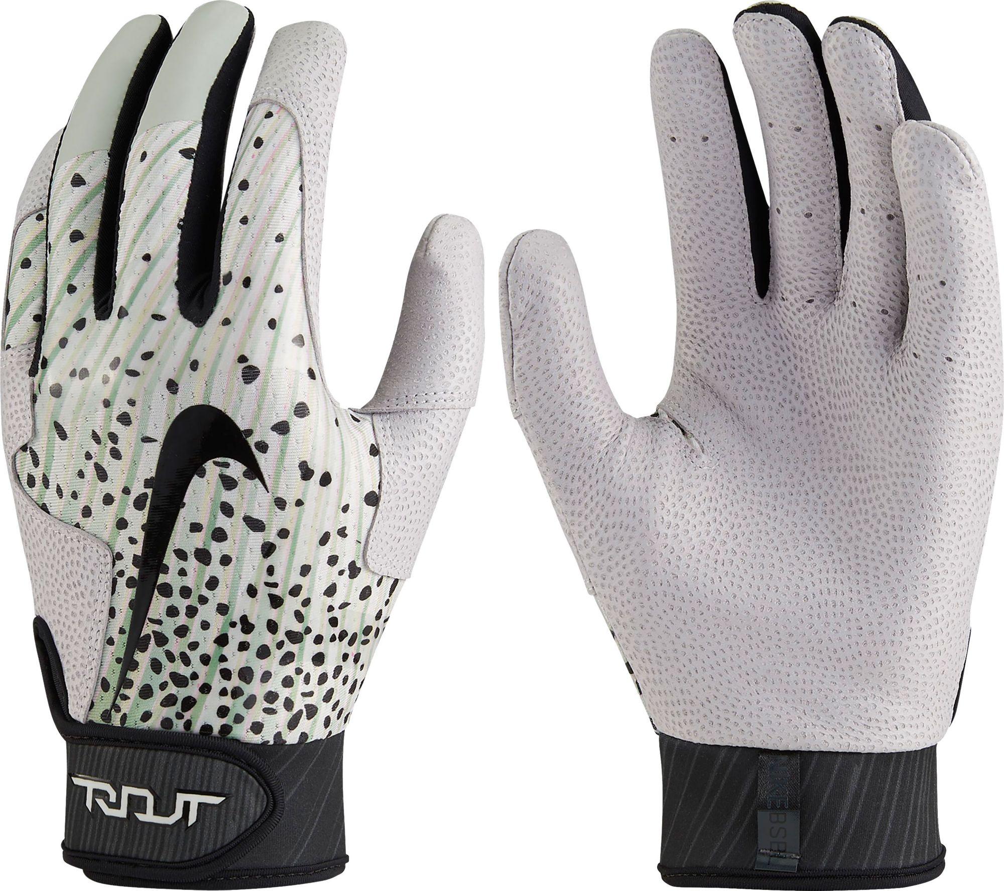 Black leather batting gloves - Noimagefound
