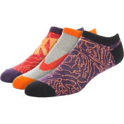 Nike Boys' Graphic Cotton Cushion No Show Socks 3 Pack