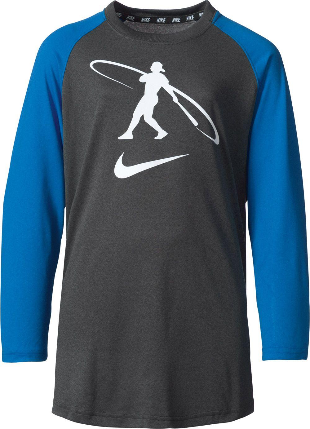 Nike Boys\u0027 Swingman ? Sleeve Baseball Shirt