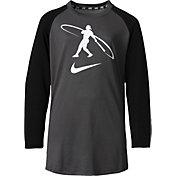 Nike Boys' Swingman ¾ Sleeve Baseball Shirt