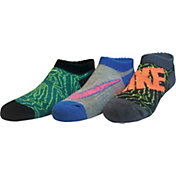 Nike Boys' Graphic Low Cut Socks 3 Pack