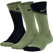 Nike Boys' Performance Cushion Crew Socks 3 Pack