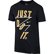 Nike Boys' ''JUST DO IT'' Play Basketball T-Shirt