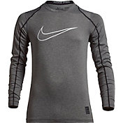 Nike Boys' Pro Fitted HBR Graphic Long Sleeve Shirt