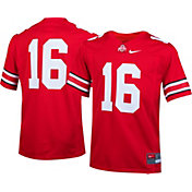 Nike Boys' Ohio State Buckeyes #16 Scarlet Game Football Jersey
