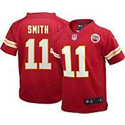 Nike Boys' Home Game Jersey Kansas City Chiefs Alex Smith #11