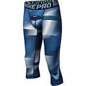 Nike Boys' Pro Cool Three Quarter Length Printed Tights