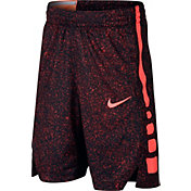 Nike Boys' Dry Elite Stripe Printed Basketball Shorts