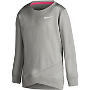 Nike Little Girls' Dri-FIT Crossover Long-Sleeved Sweatshirt