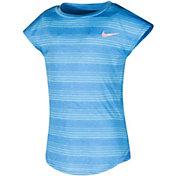 Nike Little Girls' Stripe Heather Gradient Dri-FIT T-Shirt