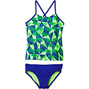 Nike Girls' Graphic Crossback Tankini 2-Piece Swimsuit