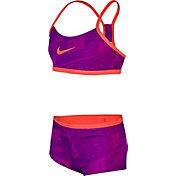 Nike Girls' Print Racerback 2-Piece Swimsuit