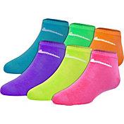Nike Girls' Color Low Cut Socks 6 Pack