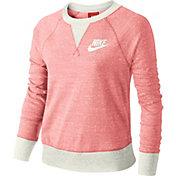 Nike Girls' Sportswear Gym Vintage Long Sleeve Crewneck Shirt