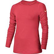 Nike Girls' Pro Warm Dri-FIT Long Sleeve Shirt