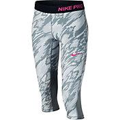 Nike Girls' Pro Cool Printed Capris