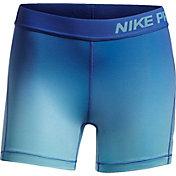 Nike Girls' 4'' Pro Gradient Printed Shorts