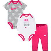 Nike Newborn Girls' Bodysuits and Leggings Three-Piece Set