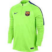 Nike Barcelona Ghost Green/Royal Quarter Zip Drill Top
