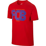 Nike Men's Barcelona Squad Red T-Shirt