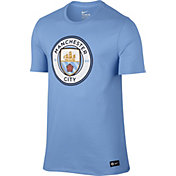 Nike Men's Manchester City Light Blue Crest T-Shirt
