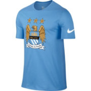 Nike Men's Manchester City Light Blue Core Crest T-Shirt