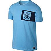 Nike Men's Manchester City Crest Light Blue T-Shirt