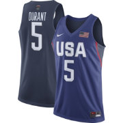 Nike Men's Team USA 2016 Olympic Games Kevin Durant #5 Royal Replica Basketball Jersey