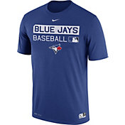 Nike Men's Toronto Blue Jays Dri-FIT Authentic Collection Royal Legend T-Shirt