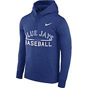 Nike Men's Toronto Blue Jays Dri-FIT Royal Therma Pullover Hoodie