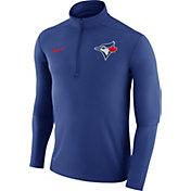 Nike Men's Toronto Blue Jays Dri-FIT Royal Element Half-Zip Jacket