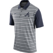 Nike Men's Atlanta Braves Dri-FIT Grey Striped Polo