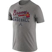 Nike Men's Atlanta Braves Practice Grey T-Shirt