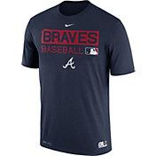 Nike Men's Atlanta Braves Dri-FIT Authentic Collection Navy Legend T-Shirt