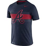 Nike Men's Atlanta Braves Dri-Blend Navy Local Stripes T-Shirt