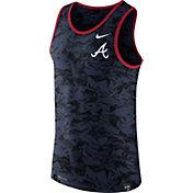 Nike Men's Atlanta Braves Dri-Blend Premium Navy Tank Top