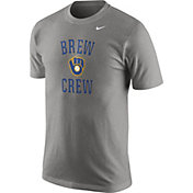 "Nike Men's Milwaukee Brewers ""Brew Crew"" Grey T-Shirt"